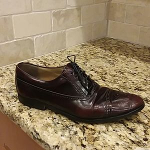 BALLY Luxury Brown Leather Dress Oxfords Shoes 9.5